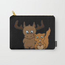 Moose and squirrel Carry-All Pouch