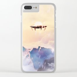 Flying Saucer Clear iPhone Case