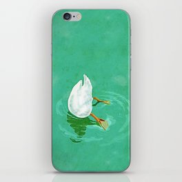 Duck diving iPhone Skin
