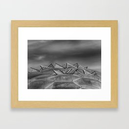 Eden Project Roof 2 Black and White Framed Art Print