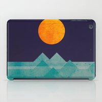 night iPad Cases featuring The ocean, the sea, the wave - night scene by Picomodi