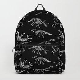 Dinosaurs Paleontology Skeletons Pattern Backpack