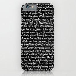 Love Letter Shakespeare Romeo & Juliet Pattern II iPhone Case