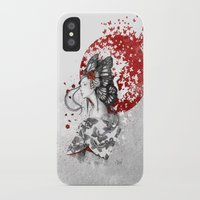 butterfly iPhone & iPod Cases featuring Madame Butterfly by Marine Loup