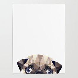 Pug Diamonds Poster