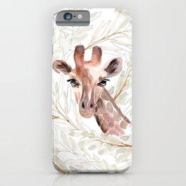 Watercolor Giraffe Art iPhone Case