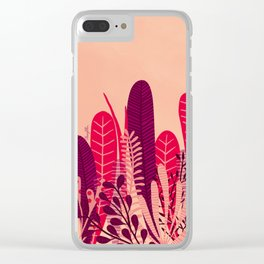 Pink plant Clear iPhone Case