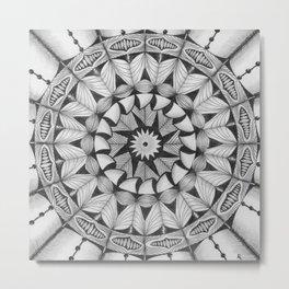 Zendala - Zentangle®-Inspired Art - ZIA 30 Metal Print