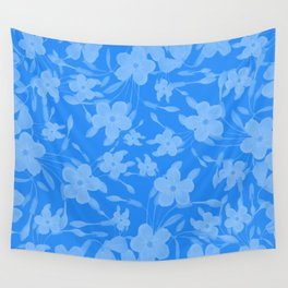 Forget-Me-Not Flowers in Blue Wall Tapestry