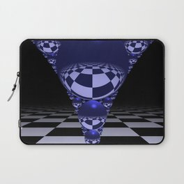 Apollonian gasket - blue Laptop Sleeve