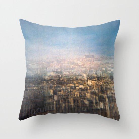 Paris Multiple Exposure  Throw Pillow