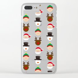 Christmas Four Clear iPhone Case