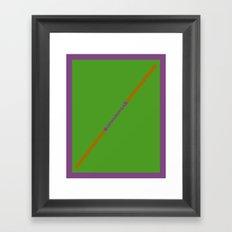 Cowabunga (Donatello Version) Framed Art Print