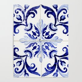 Azulejo V - Portuguese hand painted tiles Poster