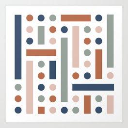 Brevard Fall Shapes Art Print