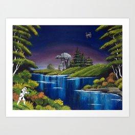 """Blue River Invasion"" Art Print"