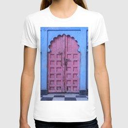 Pink Door In The Blue City, Jodhpur T-shirt