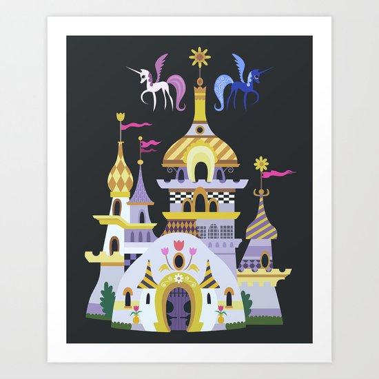 Canterlot Art Print