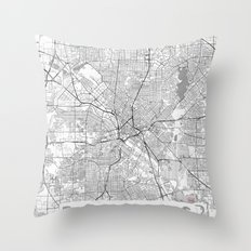 Dallas Map Line Throw Pillow