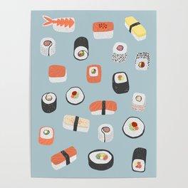 Sushi Roll Maki Nigiri Japanese Food Art Poster