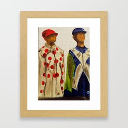 Jockey Mannequins Framed Art Print