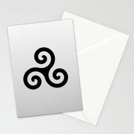 grey triskele Stationery Cards