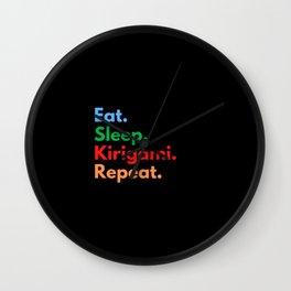 Eat. Sleep. Kirigami. Repeat. Wall Clock