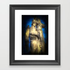 Angel Watching Over You Framed Art Print