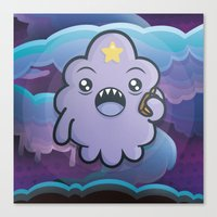 lumpy space princess Canvas Prints featuring Kawaii Lumpy Space by Squid&Pig