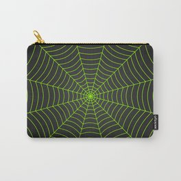 Neon green spider web Carry-All Pouch