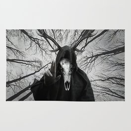 Gothic Forest god Rug