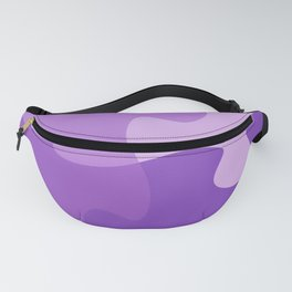 Pastel Ultra Violet Puzzle Pattern Jigsaw Pieces Fanny Pack