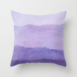 Ombre Waves in Purple Throw Pillow
