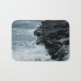 Crashing Waves On Rocks Bath Mat