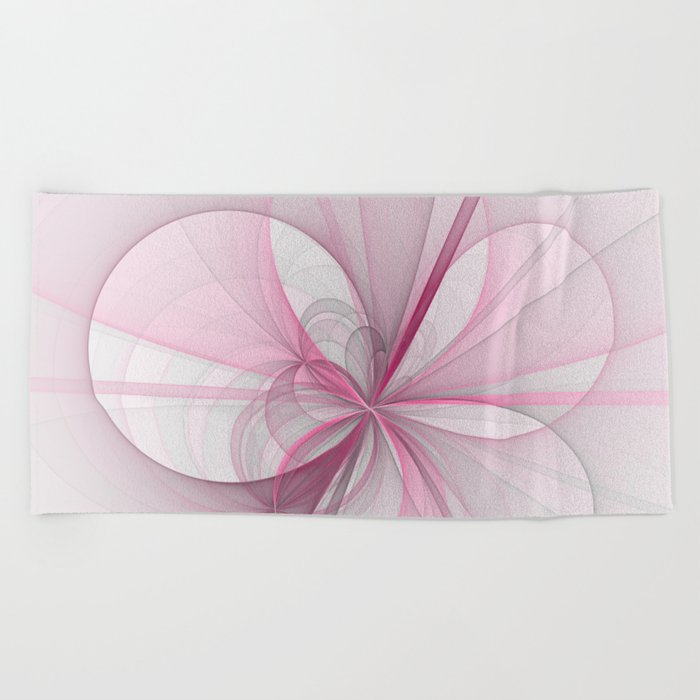 The Birth of Pink, Abstract Fractal Art Beach Towel