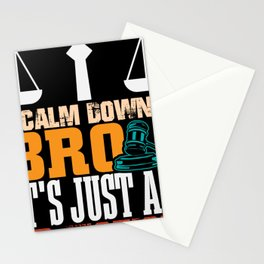 Calm down bro its just an Objection lawyer shirt Stationery Cards