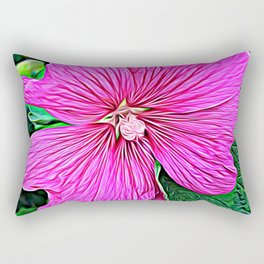 Pink Flowers of Diamond Essence Rectangular Pillow