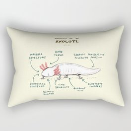 Anatomy of an Axolotl Rectangular Pillow