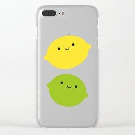 Kawaii Lemons & Limes Clear iPhone Case