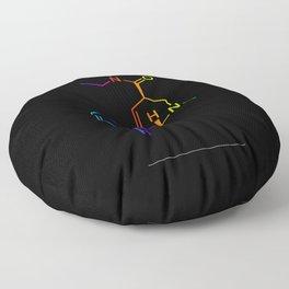 LSD color in black Floor Pillow