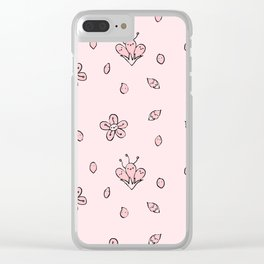 Sweet Sakura Smiles - Springtime - Blushing Pink Clear iPhone Case