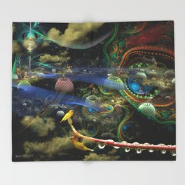 The Bioluminoidal Fractalization Process Throw Blanket