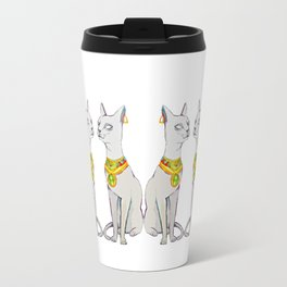 watercolor Egyptian cat Travel Mug