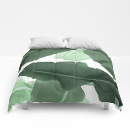 Green Banana Leaf Comforters