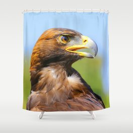 Profile of a Young Golden Eagle Shower Curtain