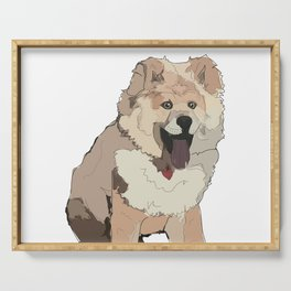 Chow Chow Dog Serving Tray