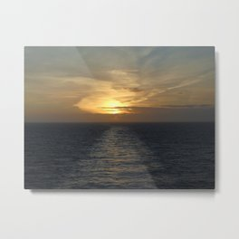Learning the rythm of the waves. Metal Print