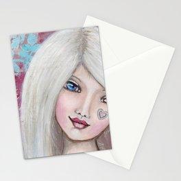 "Mixed Media Girl ""Madeleine"" Stationery Cards"
