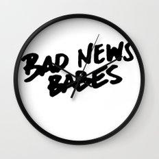 Bad News Babes Wall Clock
