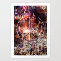 woodstock Art Prints featuring Woodstock Peace by ZiggyChristenson